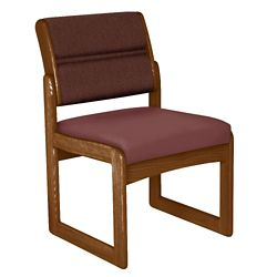 Armless Guest Chair with Sled Base