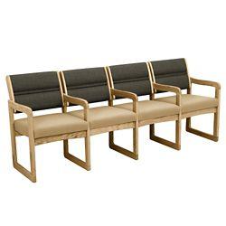 Armless Four Seat Chair