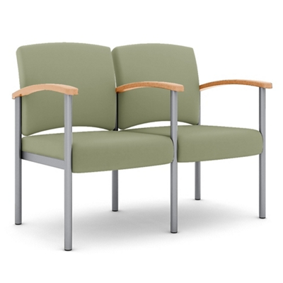Polyurethane Two Seater with Metal Frame