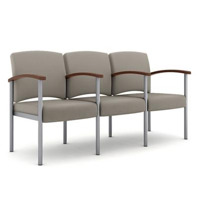 Polyurethane Three Seater with Metal Frame