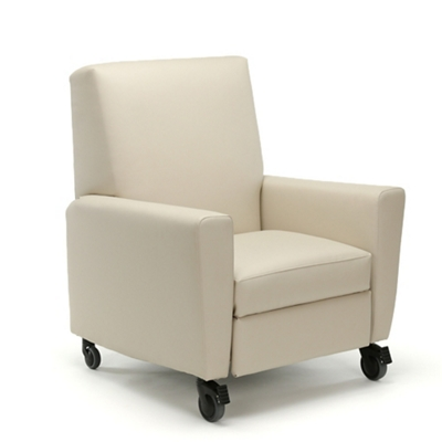 Oliver Push-Back Vinyl Recliner with Casters