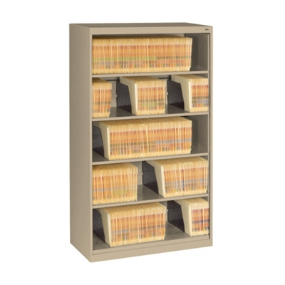 Five Shelf Open Lateral File Shelving Unit