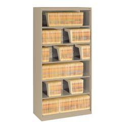 Six Shelf Open Lateral File Shelving Unit