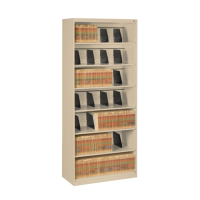 Seven Shelf Open Lateral File Shelving Unit