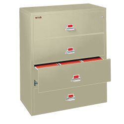 "Four Drawer Fireproof Lateral File - 44""W"