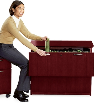 Lateral File with Two Drawers