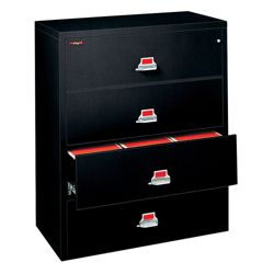 "Four Drawer Fireproof Lateral File - 31"" W"