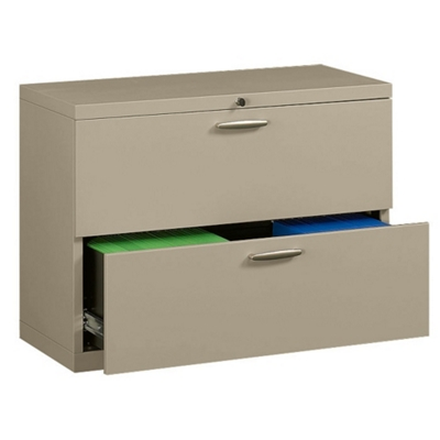 """42"""" Wide Two-Drawer Lateral File with Counterweights"""
