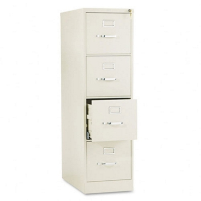 "510 Series 25""D Four Drawer Letter File with Lock"