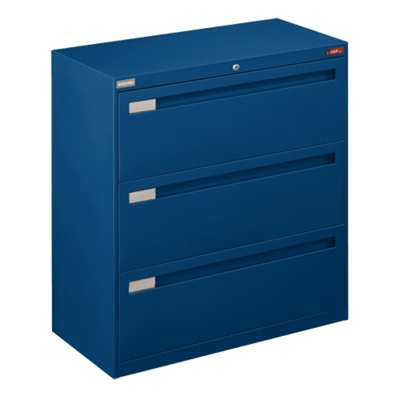 "Spectrum Three Drawer Lateral File with Counterweight - 36""W"