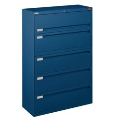 "Spectrum Five Drawer Lateral File - 42""W"