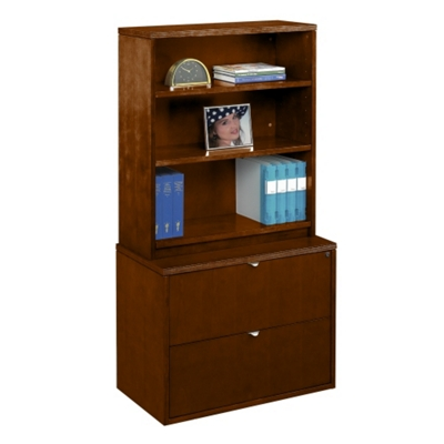 Fairbanks Bookcase With Lateral File By Nbf Signature Series