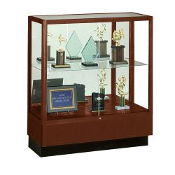 Counter Height Classic Display Case with Mirror Backing