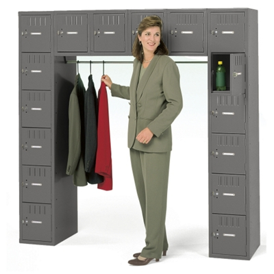 Antimicrobial Heavy-Duty 16-Person Box Locker Unit