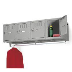 Antimicrobial Heavy-Duty 4-Person Wall Mount Box Locker Unit