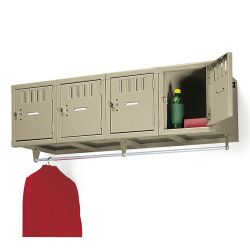 Heavy-Duty 4-Person Wall Mount Box Locker Unit