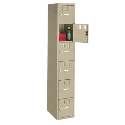 Six Tier Box Locker Set