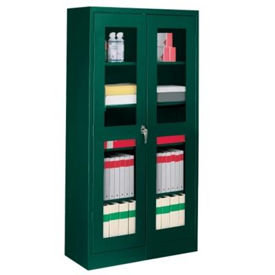 "36""W x 18""D x 72""H Storage Cabinet with See-Thru Doors"