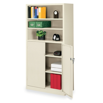 "36""W x 18""D x 72""H Bookcase with Doors"