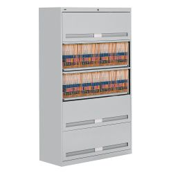 "Fixed Shelf Lateral File with Five Shelves - 64""H"