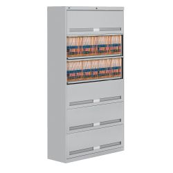 "Fixed Shelf Lateral File with Six Shelves - 76""H"