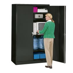 """Fully Assembled Jumbo Steel Storage Cabinet - 18""""D"""