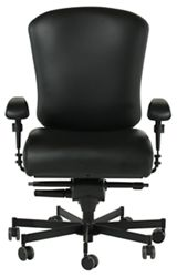 Dauerhaft 24/7 Leather Chair with Adjustable Arms
