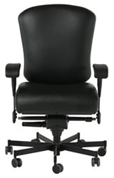 Dauerhaft 24/7 Leather Chair with Flip Arms