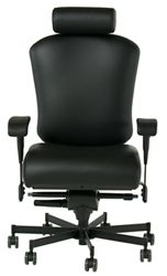 Dauerhaft 24/7 Faux Leather Chair with Headrest and Flip Arms