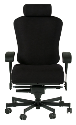 Dauerhaft 24/7 Fabric Chair with Headrest and Flip Arms
