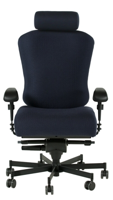 Dauerhaft 24/7 Fabric Chair with Headrest