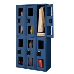 3 Wide Double-Tier Locker with See-Thru Doors