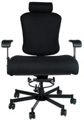Dauerhaft 24/7 Bariatric Fabric Chair with Headrest