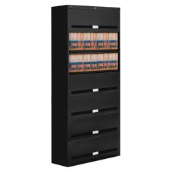 "Fixed Shelf Lateral Files with Seven Shelves - 87""H"