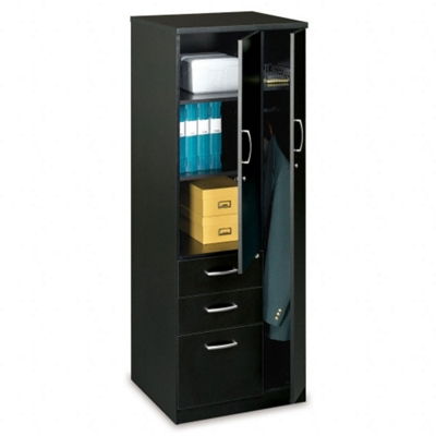 Storage Tower with 2 Utility Drawers and 1 File Drawer