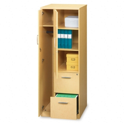 Storage Tower with 2 File Drawers