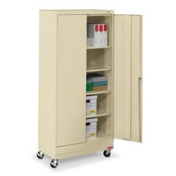 "36""W x 18""D x 79""H Mobile Storage Cabinet"