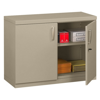 Two Shelf Storage Cabinet with Doors