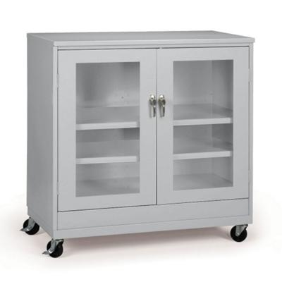 """36""""W x 18""""D x 49""""H Mobile See-Thru Storage Cabinet"""