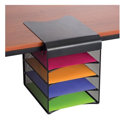 under desk five tray hanging organizer 37011 and more lifetime rh nationalbusinessfurniture com under monitor desk organizer under monitor desk organizer