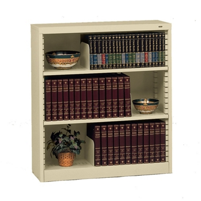 Heavy Duty Steel Bookcase with Three Shelves
