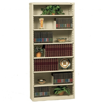 heavy duty steel bookcase with seven shelves 32626 - Steel Bookshelves