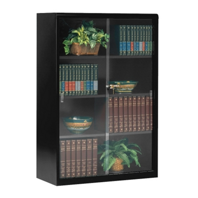"Bookcase with Glass Doors 52""H"