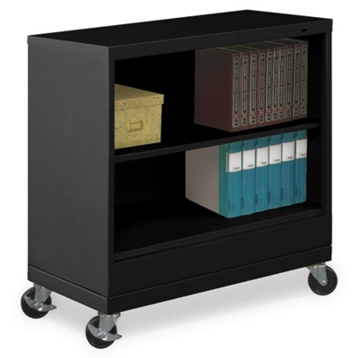 "37""H Two Shelf Mobile 18""D Bookcase"