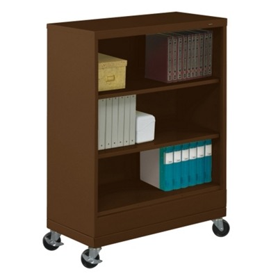 "49""H Three Shelf Mobile 18""D Bookcase"