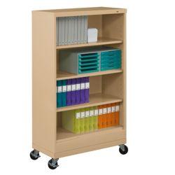 "62""H Four Shelf Mobile 18""D Bookcase"