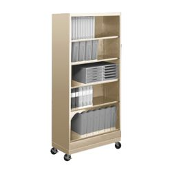 "79""H Five Shelf Mobile 18""D Bookcase"