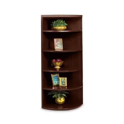 "67""H Five Shelf Corner Bookcase"