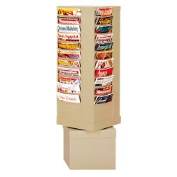 Revolving Literature Rack with 44 Magazine Pockets