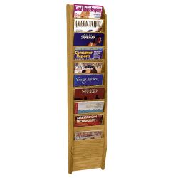 Wood Ten Pocket Magazine Rack